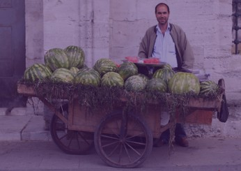 عربة لبيع الفواكه